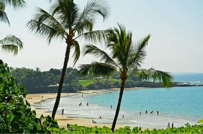 Praia Mauna Kea em Big Island, Havaí