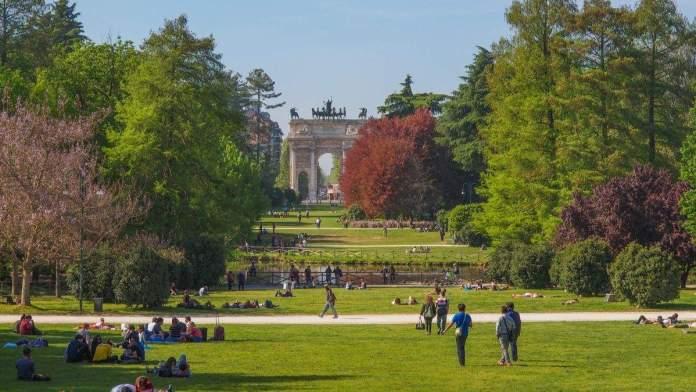 Parque Sempione em Milão, Itália