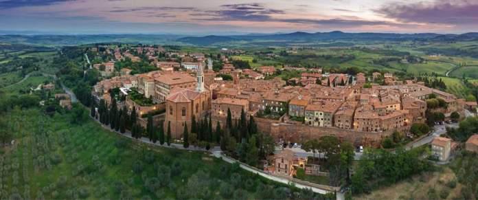 Cidade de Pienza, na toscana, Itália.