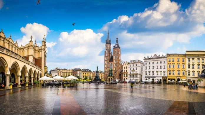 Praça do Mercado de Cracóvia - Polônia