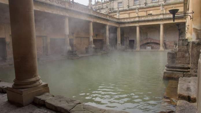 Termas Romanas de Bath, Inglaterra.