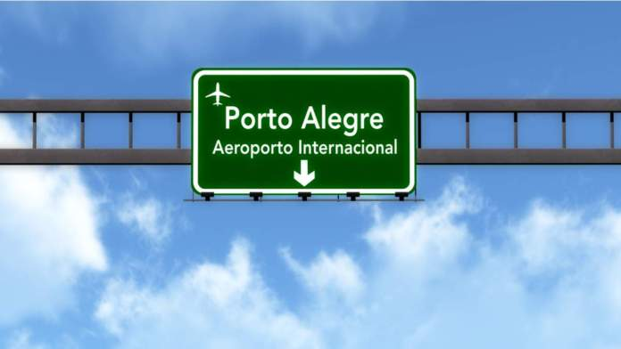 Placa do aeroporto de Porto Alegre