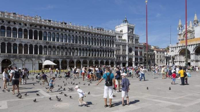 Praça San Marco em Veneza, Itália.