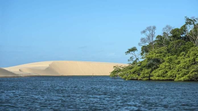 Parte do rio Parnaíba no Piauí