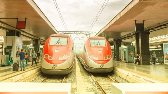 Estação de trem em Roma - Itália
