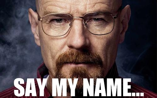 Resultado de imagen de say my name