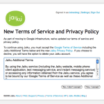 New Jaiku Privacy terms