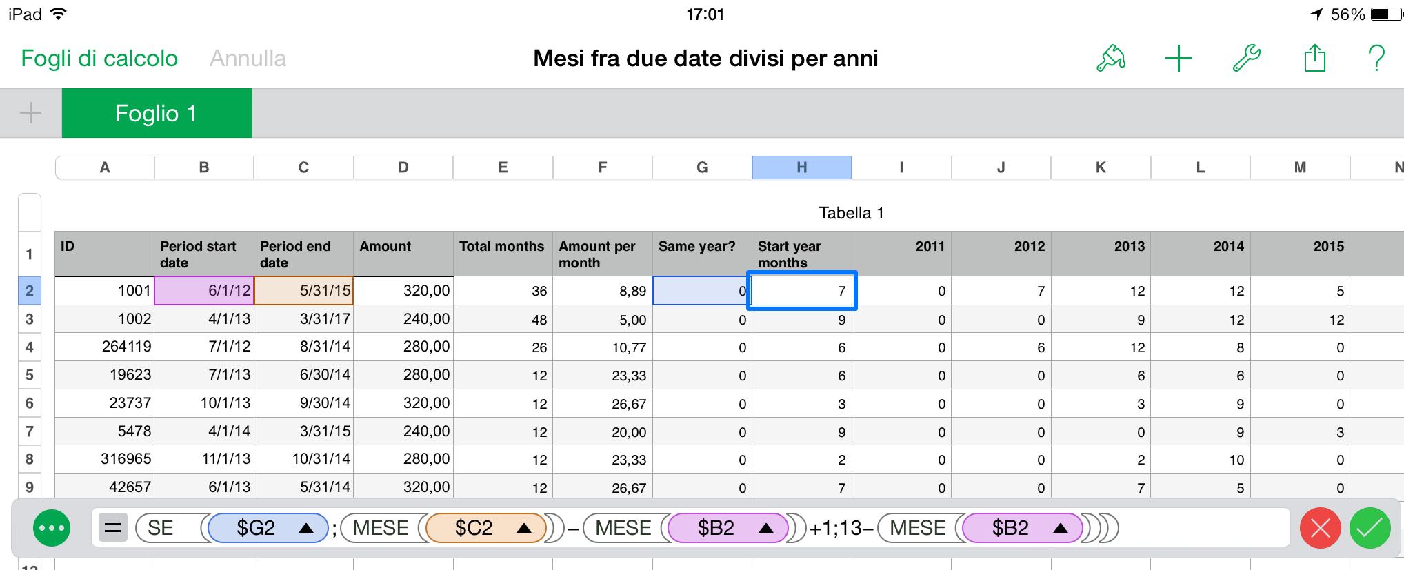 pretty nice ecebd 5221a Excel: anni e mesi tra due date – metodo alternativo – Fed's ...