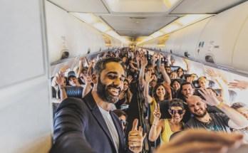 Vuelo inaugural Florianopolis Flybondi-PolloAlvarez