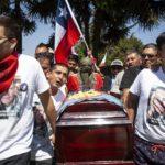Chile. El funeral de Cristián Valdebenito: el último adiós a un Primera Línea