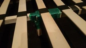 Bed slats: close up