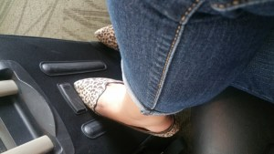 Leopard Print Pointy Shoes