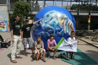 BUND Naturschutz Jugend Wetterballon für Klimaschutz Aktion 14.05. 2011
