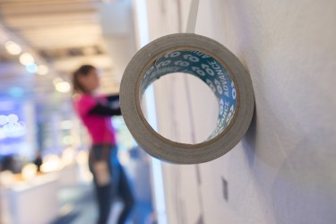 """Tape Art Event auf der Formnext in Frankfurt mit Helge """"Bomber"""" Steinmann"""