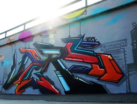+Vers NYC Graffiti Frankfurt Ratswegkreisel