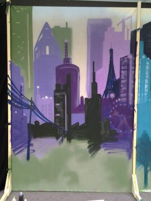 Skyline purple, 200 x 300 cm, 2013, private property