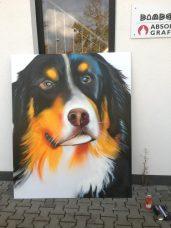 Berner Senner, Farbsprühdose auf AluDibont, 170 x 140 cm, Wiesbaden