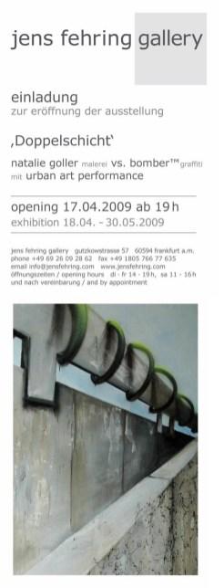 Einladung Kooperation Natalie Goller/Bomber 2009