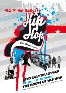 Din A 5 Flyer Vorderseite, The Roots of HipHop, Frankfurt 2007