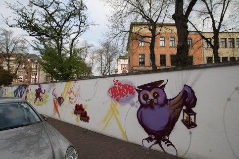 Heureka Textorschule Europaschule Fassade Socialday 2019
