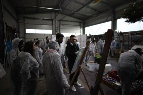 Urban Art Spray Workshop/Graffiti Workshop für die EZB/for the ECB, 2019