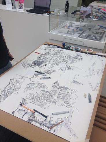 Live Painting Graphic Recording für Scholz & Volkmer Bilder der Zukunft zum Tag der Mobilität 2016