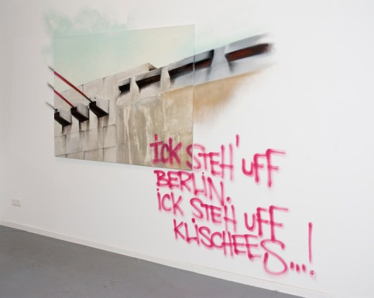 Ick steh uff Berlin. Ick steh uff Klischees. Kooperation Natalie Goller/Bomber, Galerie Jens Fehring, 2009