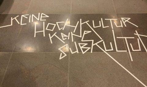 Keine Hochkultur-keine Subkultur. Tape Art @ Ausstellung »Sachbeschädigung«MTK Galerie Landratsamt Hofheim, 2015