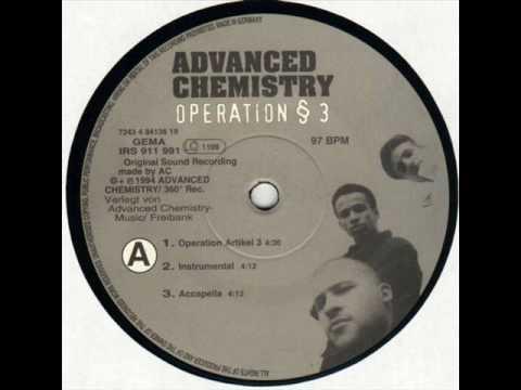 12 inch Vinyl Label Advanced Chemistry Operation § 3 1994