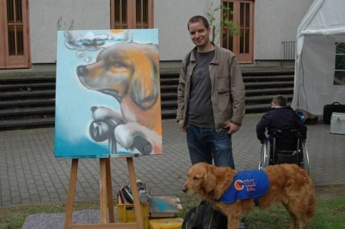Leinwand Spende Vita Assistenzhunde e.V. 2010