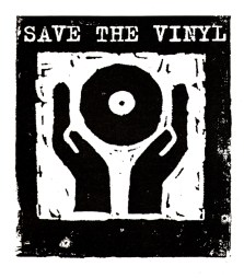Save the vinyl, Label Corporate Logo design client: Logic Records 1993