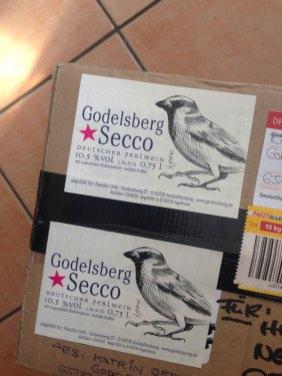 Etikettendesign / Labeldesign Spatz Sperling / sparrow Godelsberg Secco 2015