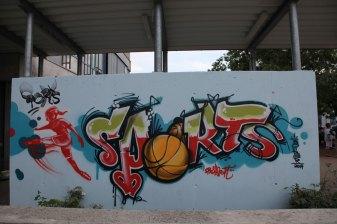 Sprühsport Sports 2014, Carl von Weinberg Schule, Niederrad 2014