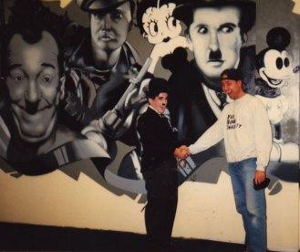 Wandgestaltung Kinopolis 1994 Frankfurt-Main-Taunus Zentrum