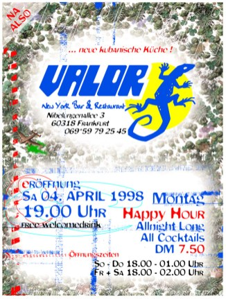 Valor Einladung Invitation Din A5 1998