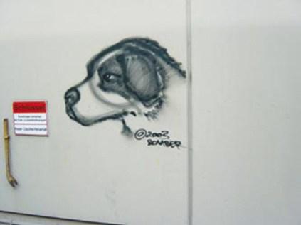 Spontanes Portrait des Hundes von Motip Dupli GF Silvio Keller, Haßmersheim 2003.