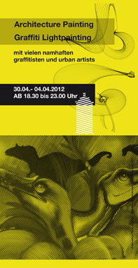 Handout, Flyer, Din Lang Luminale Lightpainting Bomber & Lichtfaktor, Heyne Fabrik Offenbach 2014