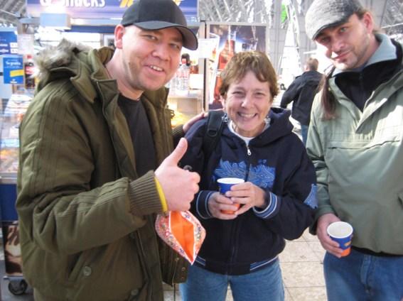 Bomber Helge Steinmann, Martha Cooper, Alesh Merlin Pliml, Hbf Frankfurt The Roots of HipHop, Frankfurt 2007