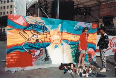 Live Graffiti Art, Opernplatzfest Frankfurt 1992