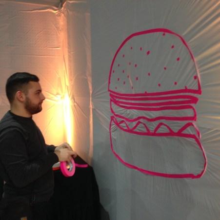 Burgertime ANWR Tape Art ANWR Tape Art @ ANWR Zukunftsforum 2018