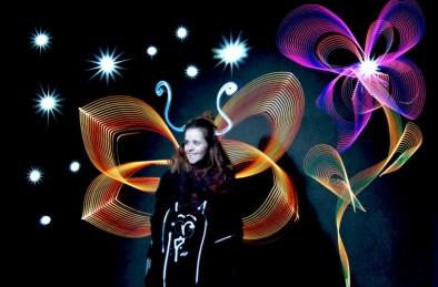 »Schmetterling | Butterfly« Bomber feat. Lichtfaktor, LumaPaint Station @ Bomber LuxUs, Haus des Buches, Luminale Frankfurt 2016