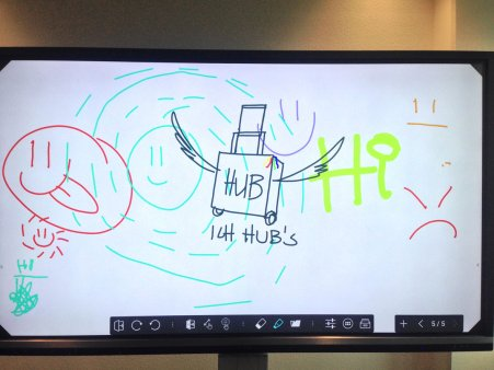 Inno.Hub 2.0 Fraport 2019: Inno Hub Logo Sketch on whiteboard @ Inno.gate
