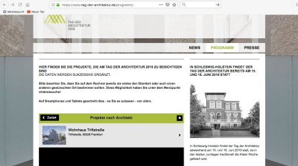Website Tag der Architektur