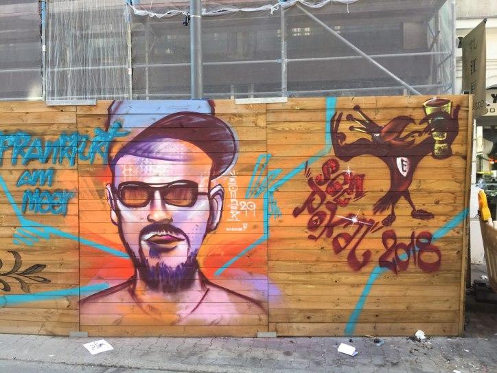Street Art Bauzaun Taunusstraße Frankfurt am Meer