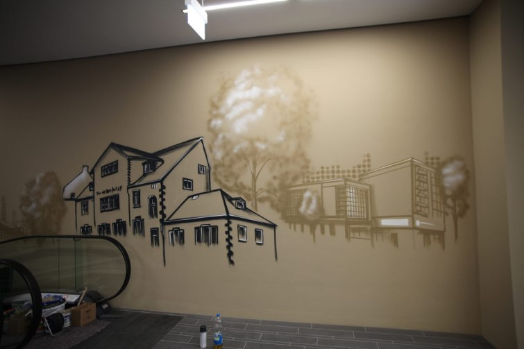 Alte Feuerwache Frankfurt REWE Graffiti 2017