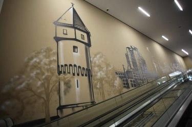 Gallus Warte Frankfurt REWE Graffiti 2017