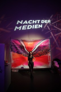 #NdM19 Nacht der Medien Bomber Foto Backdrop Hintergrund Engelsflügel/wings of an angel