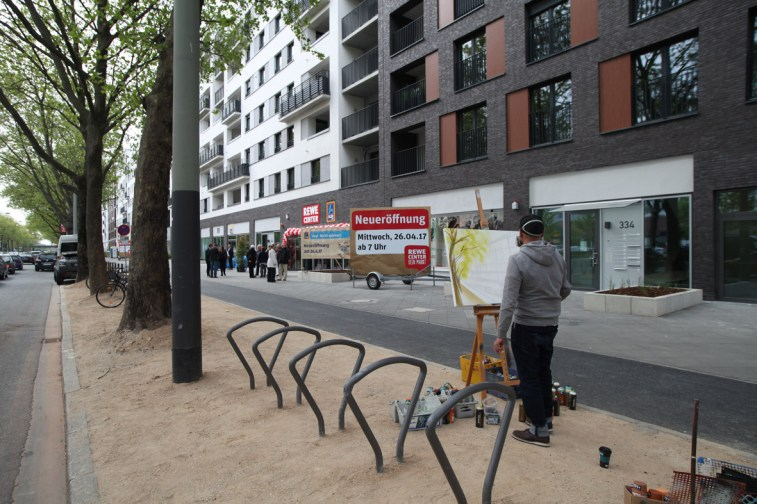 PlainAirGraffiti Plain Air Painting Plain Air Malerei Frankfurt REWE Graffiti 2017