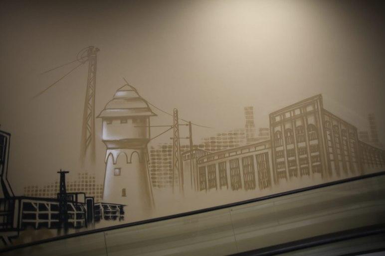 Wasserturm Adlerwerke Frankfurt REWE Graffiti 2017
