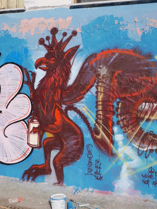 Spraypainted Grifo Street Art, Perugia 2018